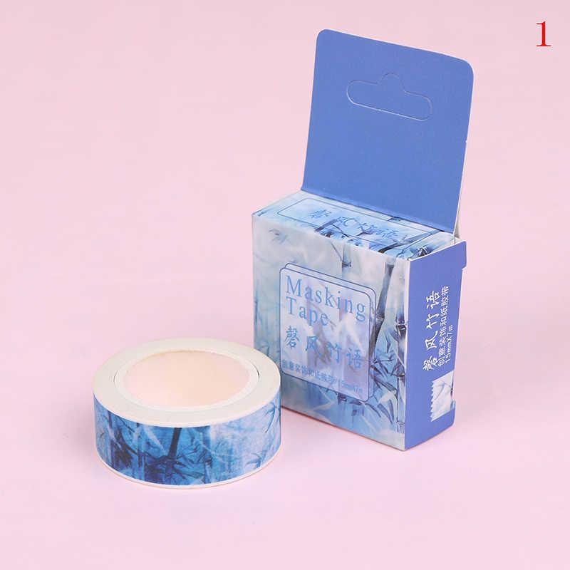 Antiguo estilo chino pintado a mano cinta adhesiva Scrapbooking álbum de cuaderno decorativo artesanía DIY 15mm * 7m