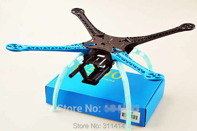 1set s500 sk500 gf glass fiber four axis qudcopter frame high landing gear for dji f450