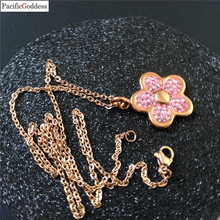 цена на New flower Necklace for Women flower Shape Pendant Necklace Gift Choker Necklace 0003