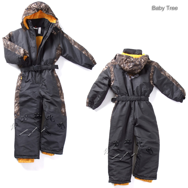 1-6Y Germany brand kids winter skit suit thick warm cotton-padded winter outdoor clothes baby boys girls winter snow clothes set