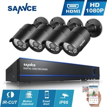 SANNCE HD 8CH 1080P CCTV System 2.0MP 1920*1080P Security Cameras IR Outdoor 8 channel 1080P Video surveillance system DVR kits