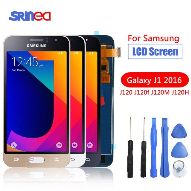J120F LCD Für Samsung Galaxy J1 2016 LCD Display J120 J120F J120M J120H Display Touchscreen Digitizer Ersatz 100% Getestet