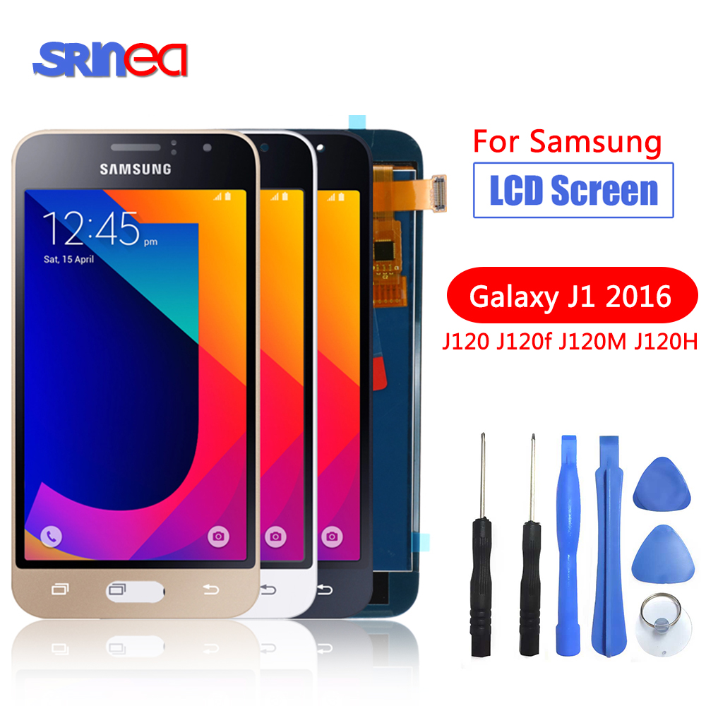 Image 1 - J120F LCD For Samsung Galaxy J1 2016 LCD Display J120 J120F J120M J120H Display Touch Screen Digitizer Replacement 100% Tested-in Mobile Phone LCD Screens from Cellphones & Telecommunications