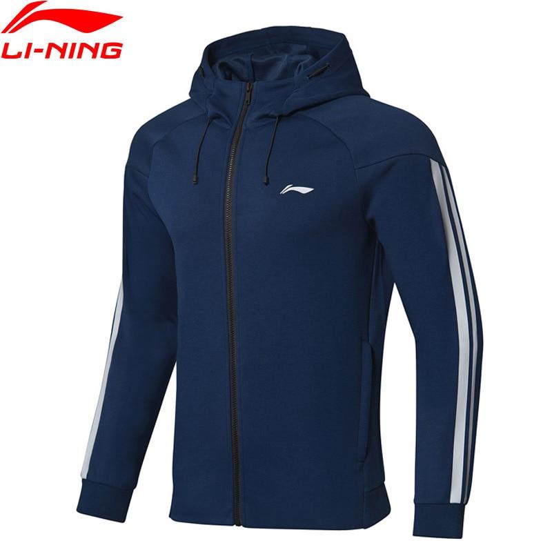 Li Ning Men Training Series Hoodie Regular Fit 63 Polyester 37 Spandex Comfort LiNing Fitness Sports