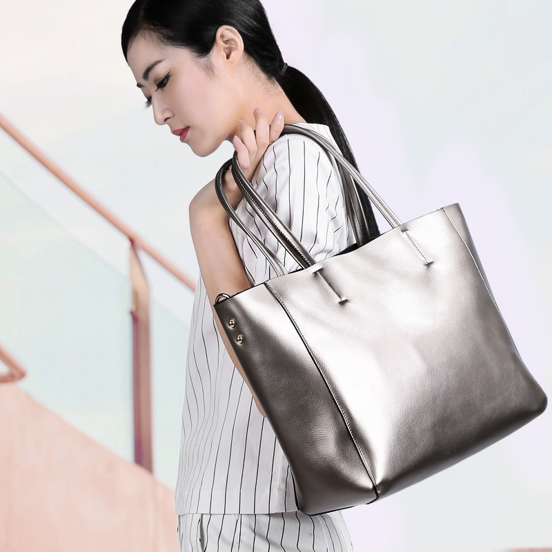 Bag Female Women's Genuine Leather Bag Handbags for Women Shoulder Bags Large Capacity Genuine Leather Bolsa Feminina Tote 2018 women shoulder bags genuine leather tote bag female luxury fashion handbag high quality large capacity bolsa feminina 2017 new page 10