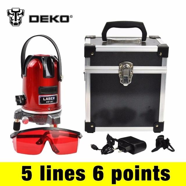 Deko 5 Lines 6 Points Laser Level 360 Rotary Cross Laser Line