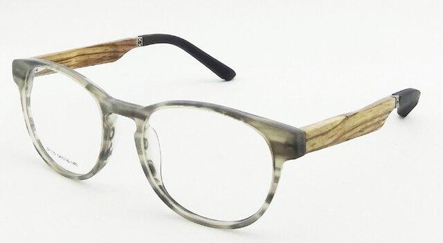9b8a62d6aa Vintage Wood Eyeglasses Frames New Fashion Acetate Glasses Frame Wood  Temples Rubber Tip Optical Frame Prescription Gafas ZF110