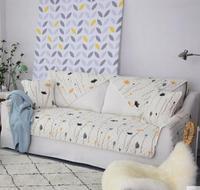 Simple Modern Winter Short Plush Sofa Cushion Non Slip Flannel Cushion Living Room Sofa Towel Sets