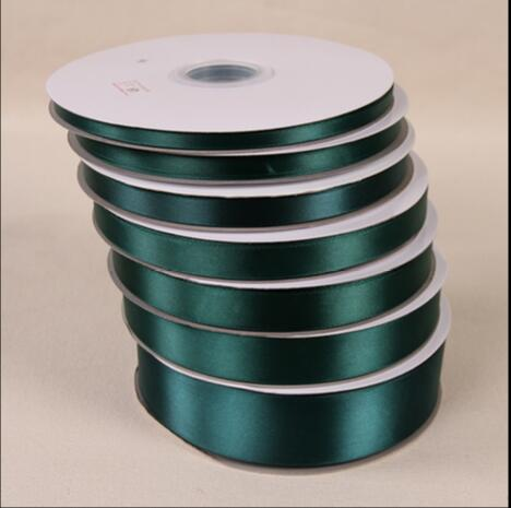 100yards Roll Dark Green Silk Satin Ribbon For Wedding Party Decoration Gift Wring Arel Accessories