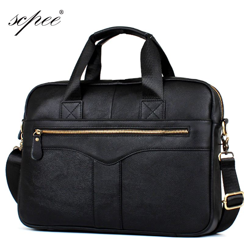 SCPEE Men Casual Briefcase Business Shoulder Bag Leather Messenger Bags Computer Laptop Handbag Bag Men's Travel Bags 2015 men casual briefcase business shoulder leather bag men messenger bags computer laptop handbag bag men s travel bags