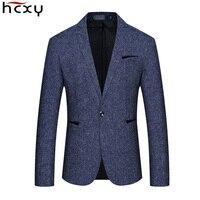 HCXY 2019 New Spring Autumn Casual Men Blazer Cotton Slim Suit Jackets Blaser Masculino Male Jacket Blazer Men Size M 5XL