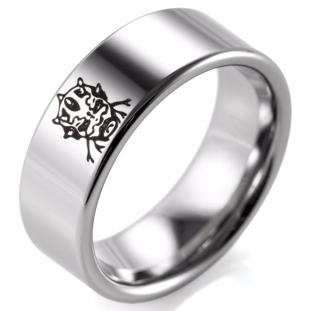 shardon mens 8mm tungsten rings black lasered lasered star wars darth maul design mens promise wedding