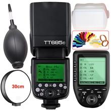 Godox TT685F 2.4G HSS 1/8000 s Gatilho Flash Da Câmera TTL + XPro-F para Fuji X-Pro1 X-Pro2 X-T20 X-T10 X-T2 X-T1 X100F X100T X-E1 X-A3