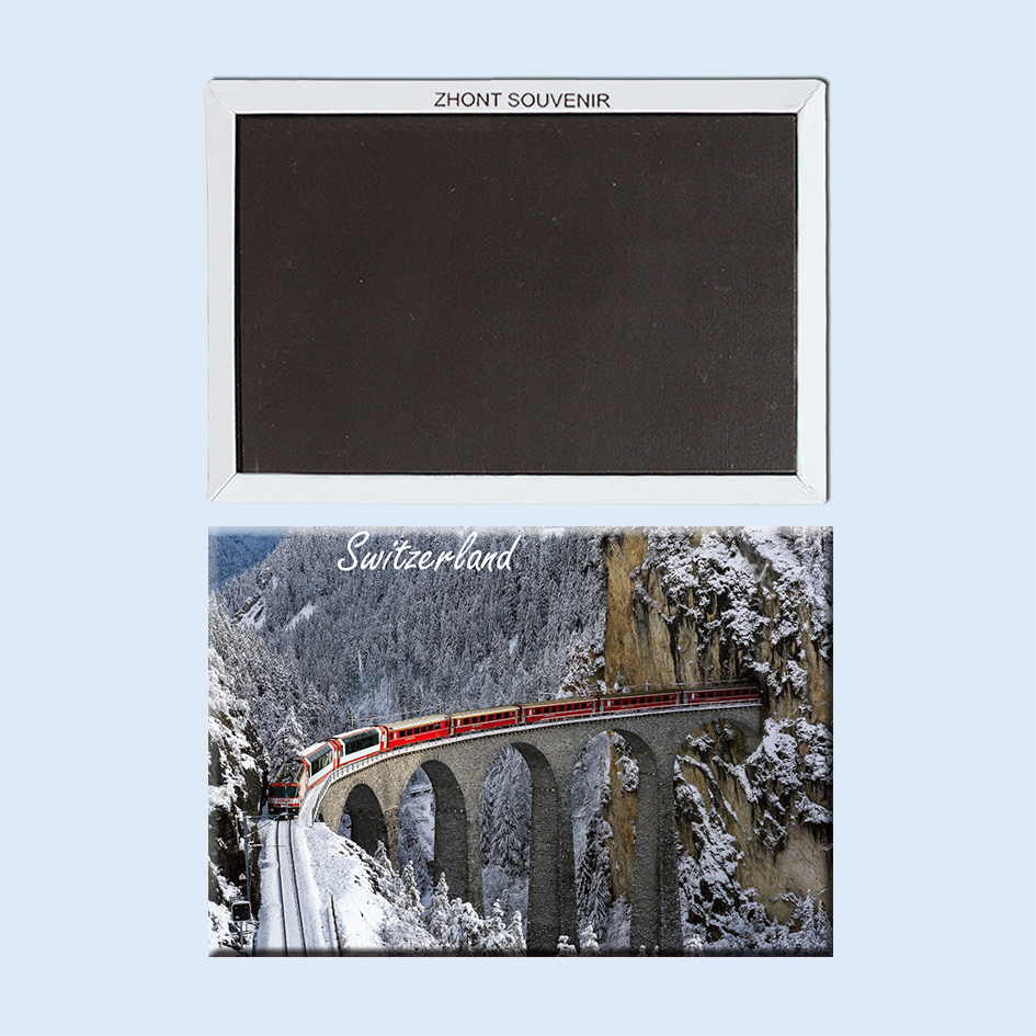 switzer land railway in the mountains 22725 Souvenirs of Tourist Landscape Magnetic refrigerator gifts for friends
