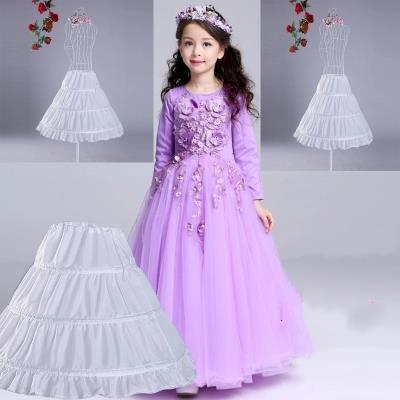 f607fbc9a Muchachas mullidas Falda larga vestido de la princesa de los niños ...
