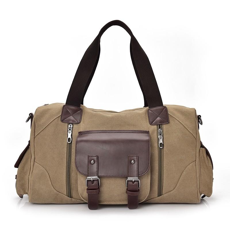 Famous Brand Men Vintage Canvas Men Travel Bags Women Weekend Carry On Luggage & Bags Leisure Duffle Bag Large Capacity Handbags (11)