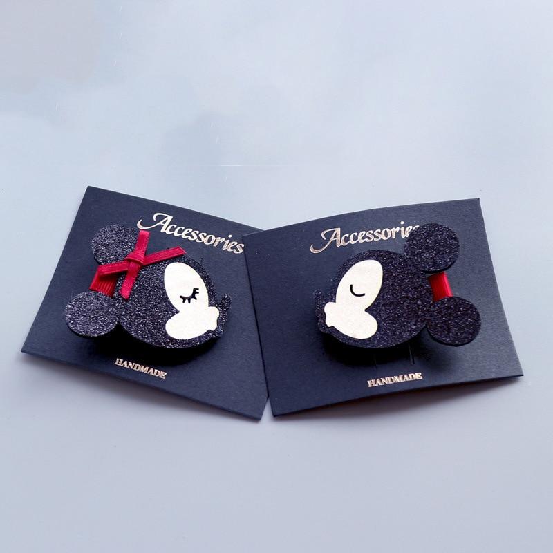 1 PCS New Cartoon Cute Black Little Mouse Girls Hairpins Children Hair Accessories Princess Headwear Kids Hair Clips