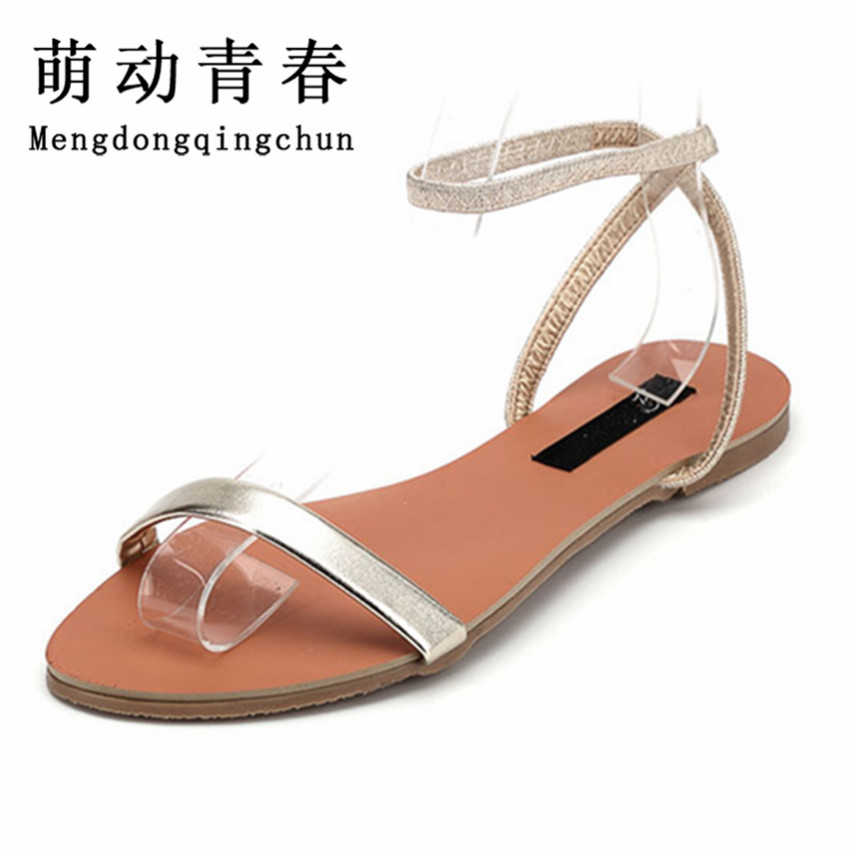 Women Gladiator Sandals 2016 Summer Peep Toe Flats Fashion Casual Shoes Woman Beach Shoes Ladies Flip-flops Zapatos Mujer Verano vtota summer shoes woman platform sandals women soft leather casual peep toe gladiator wedges women shoes zapatos mujer a89