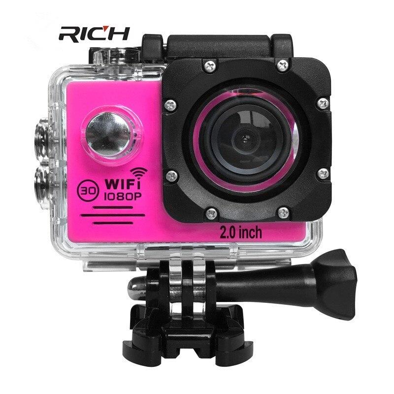 DHL RICH SJ7000Sports Cameras 1080P Action Camera 12MP WiFi Sports Cameras 30M Waterproof 2.0LCD Full HD DVR 170
