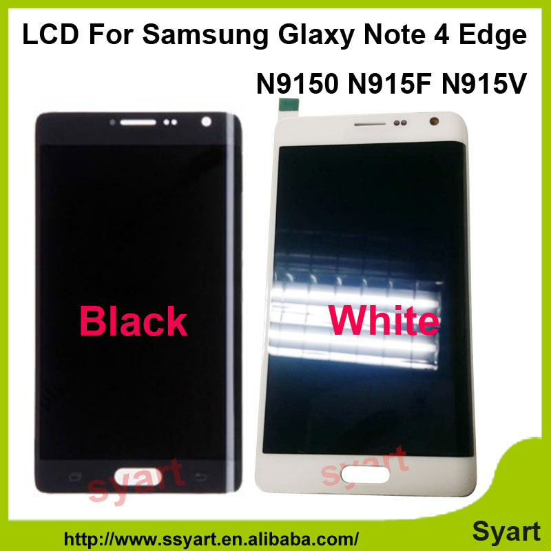 10pcs/lot DHL quality AAA China supplier For Samsung Galaxy Note 4 Edge N9150 N915F LCD Display Touch Screen Digitizer Assembly 10pcs dhl high quality for hp 10 n 10 n