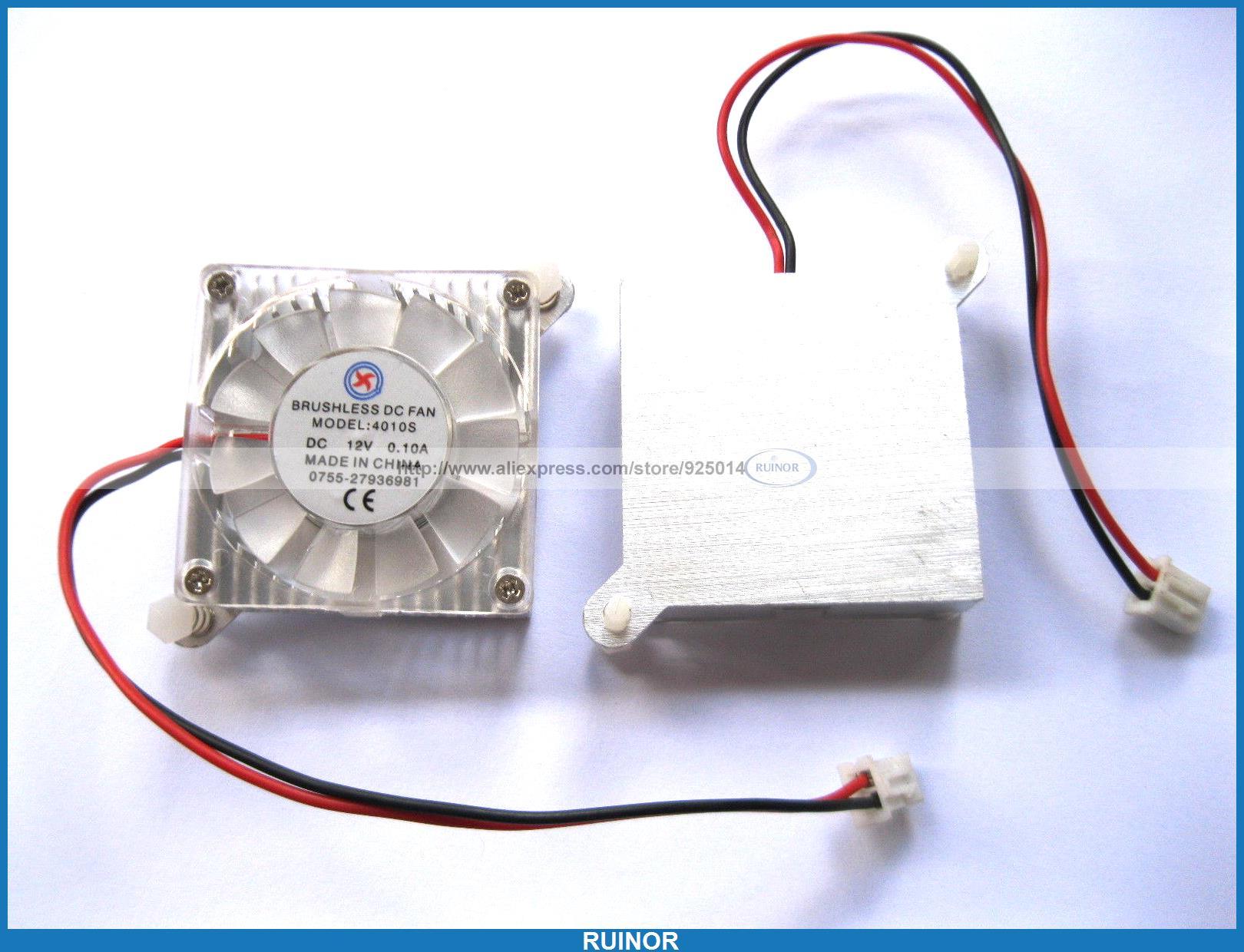 ФОТО 8 Pcs Brushless DC Cooling 11 Blade Fan 4010S 12V 40x40x10mm 2pin with Heatsink