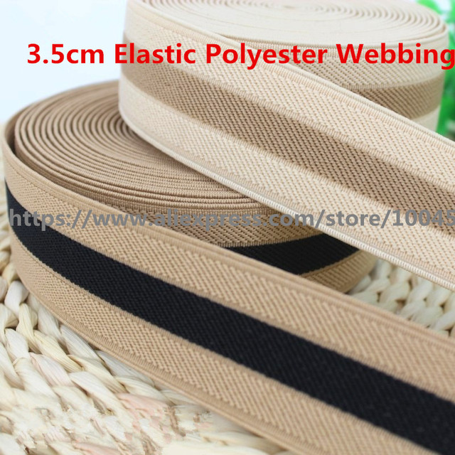 3.5cm Thick Elastic Polyester Webbing Ribbon Tape Bag Straps Belt Waistband  Webbing Upholstery Furniture 5