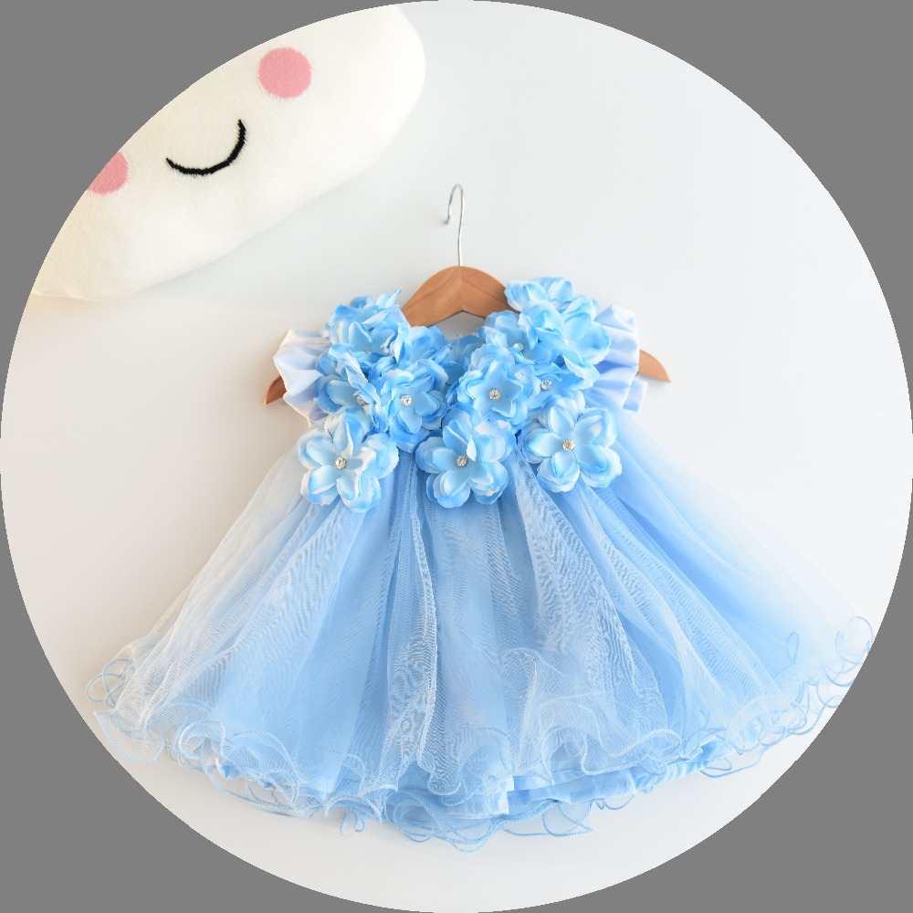Baby Girl Dresses 3D Stereoscopic Applique Infant Princess 1 Year ...