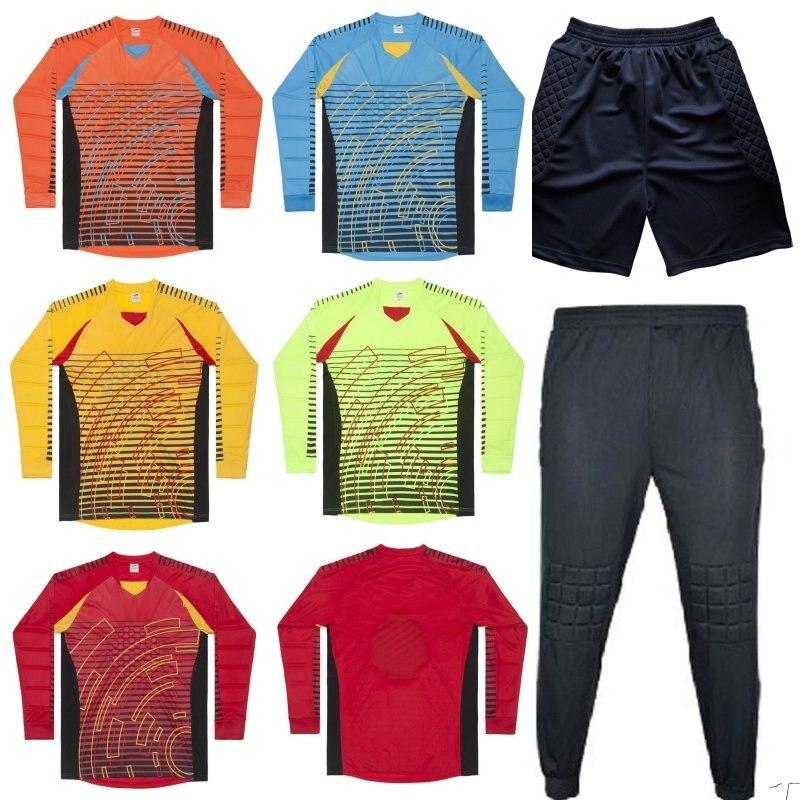 Aliexpress.com  Comprar Camiseta de portero de fútbol de marca para hombre  juego de fútbol 2018 19 uniformes de portero traje pantalones de  entrenamiento de ... f27ca0537eb81
