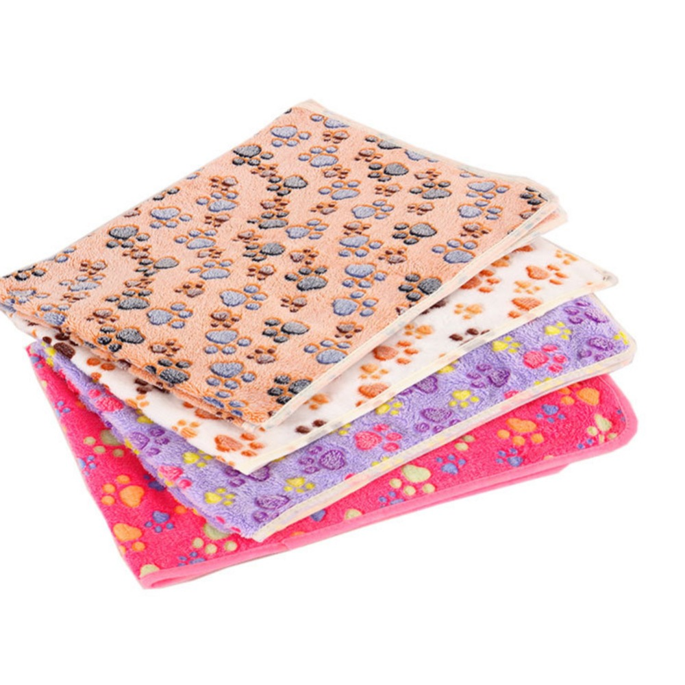4colors Transer Dog Bed Soft Flannel Fleece Star Print Warm Pet Blanket Sleeping Bed Cover Mat For Small Medium Dog Cat Dropship
