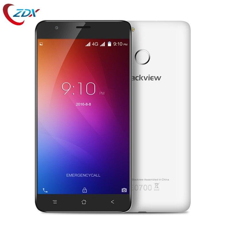 Цена за Blackview E7 4 Г Смартфон 5.5 Дюймов Android 6.0 Quad Core 1 ГБ RAM 16 Г ROM Мобильный Телефон MTK6737 1.3 ГГц 8.0MP Сенсорный ID