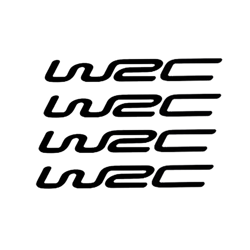 4 Pcs/set World Cross Country Rally WRC Modified Car Stickers Personality Reflective Stickers Door Handle Wrist CT-392(China)