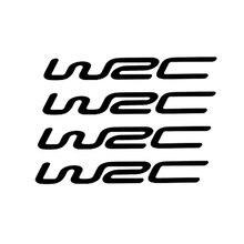 4 unids/set del Mundo de Cross Rally WRC pegatinas de coche modificadas personalidad pegatinas reflectantes de la manija de la puerta de la muñeca CT-392