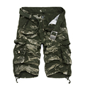 2016 Summer Stylish Cargo Shorts Men Casual Loose Cotton Camo Calf-length Multi-Pocket Bermuda Masculina Short Pants