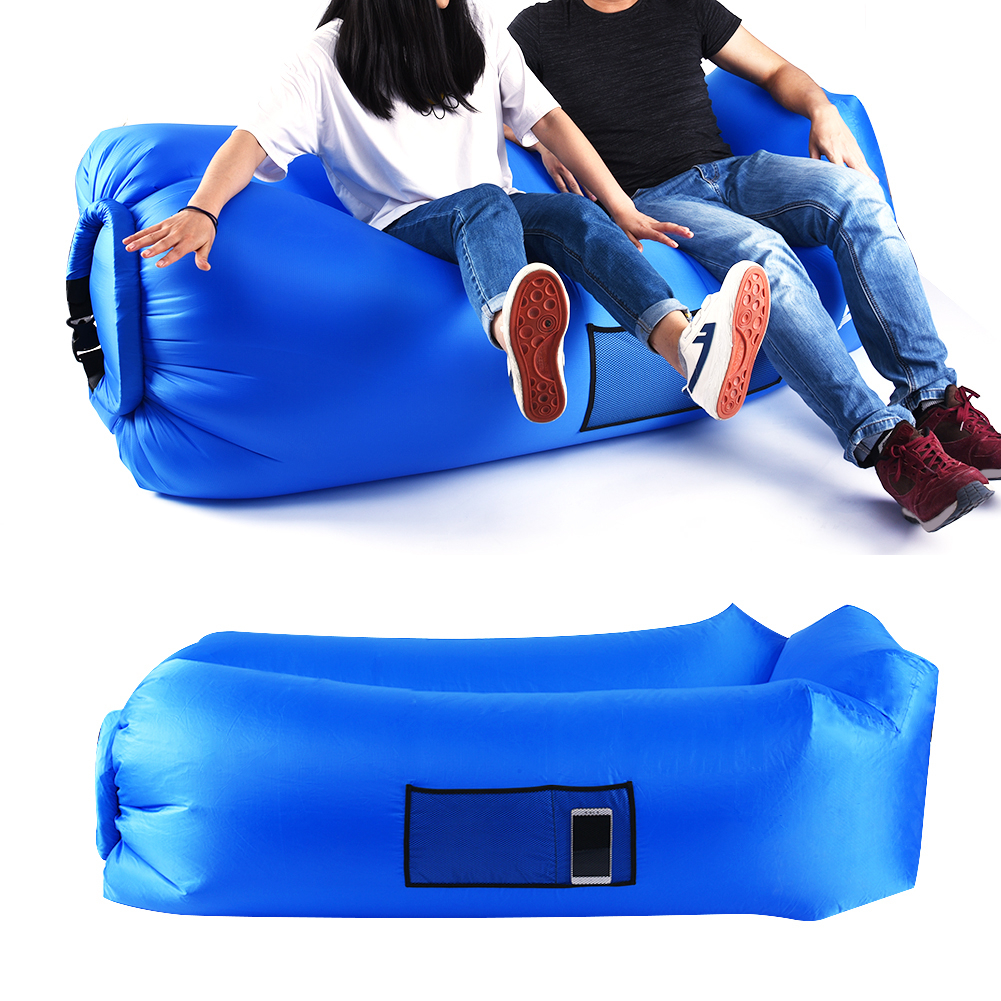 2019 Update Version Lazy Sofa Inflatable Beach Bed Air Sofa Lounge Camping Lazy Bag Air Lounger Sleeping Bag Pillow Sofa Bed Refreshment Camping & Hiking