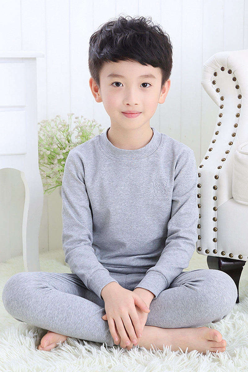 Children's underwear suit pure cotton boy new spring and autumn winter 12-15 year old child baby long sleeved clothes new baby sleeping bag soft cotton autumn child sleep suit u collar baby sleepsacks dogs clothes autumn winter