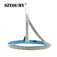 SZYOUMY SMD 2835 CW/WW Çift Beyaz Renk Sıcaklığı Ayarlanabilir CCT 12 V 24 V Çift Renkli LED esnek şerit 180 leds/m bant ışık