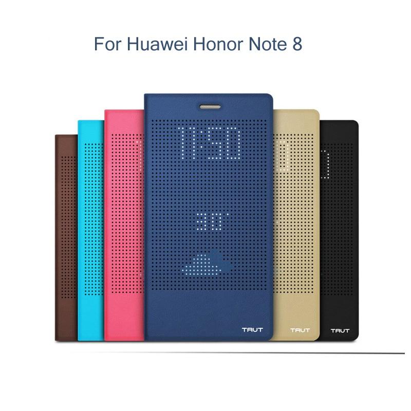 imágenes para Para Huawei Honor 8 Funda Original UEU Suspensión Inteligente Wake Cubierta Del Tirón Ventana de Visualización para Huawei Honor Nota8 Max