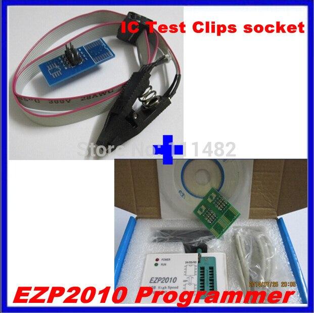1 Unidades ezp2010 alta velocidad USB SPI PROGRAMA + IC prueba Clips socket