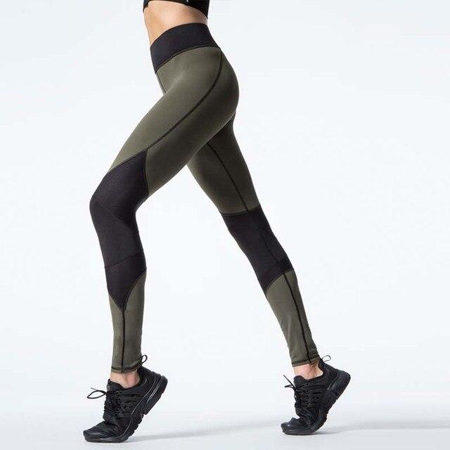 efca8ba76fc 2017 de Yoga Ropa Deportiva GIMNASIO Leggings Aptitud de Las Mujeres  Delgadas Pantalones de Yoga Mujer