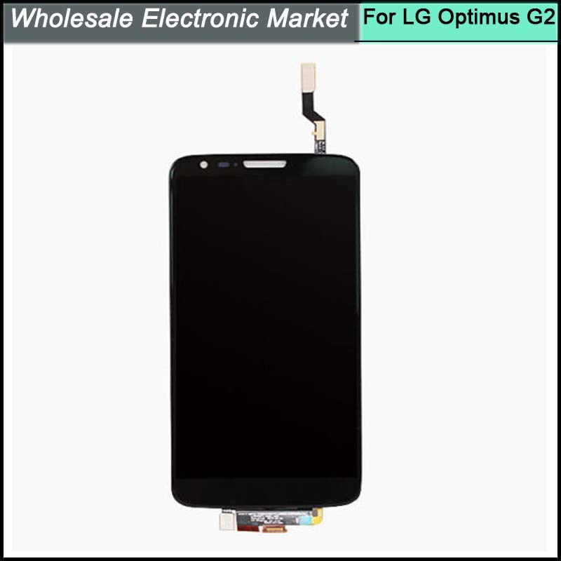 HK Post Free Shipping For LG Optimus G2 D800 D801 D803 VS980 LS980 LCD and Touch Screen Digitizer Assembly Black