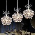 Modernas Luzes Pingente de Cristal Abajur E27 Conduziu a Lâmpada Loft Lustre de Iluminação Decorativa Para Casa Lampadario Lamparas Colgantes Moda