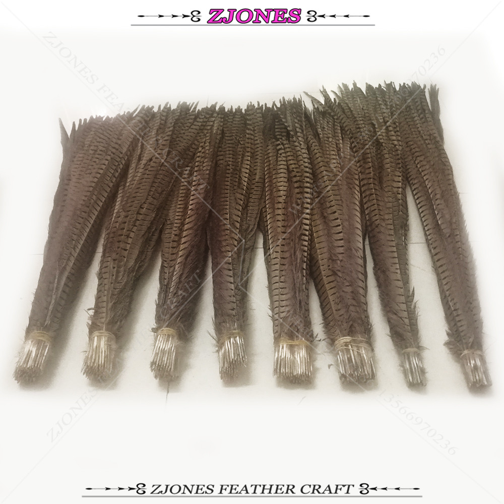 Wholesale 50pcs Natural 75 85cm Long Ringneck Pheasant Feathers Plumas Wedding Stage performance Clothes Accessories Carnival in Feather from Home Garden