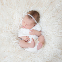 Newborn Rompers Soft Ruffle Sleeve Jumpsuit Baby Girls Floral Costume Infant Romper Props Photography Accessories