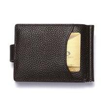 CUIKCA RFID Wallet Genuine Leather Men Wallet Carteira Cowhide Money Clip HASP Short Slim Wallet Business ID Credit Card Cases