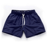Navy blue-Men Beach Sport Swim Trunks Surf Swimwear Quick Drying Briefs