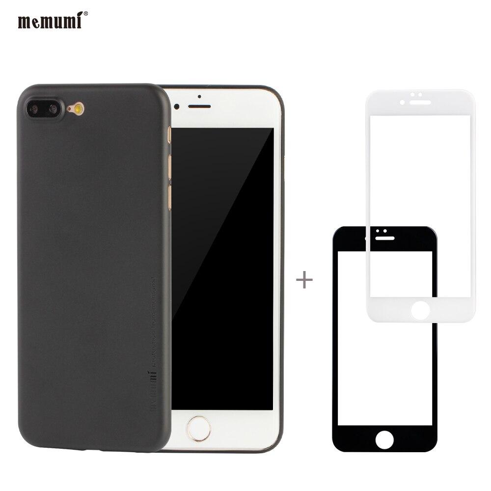 imágenes para Memumi 0.3mm Caso Ultra Delgado Para el iphone 7/iphone7plus Con Protector de Pantalla de Cristal Templado Para Apple iphone7 iphone7plus caso