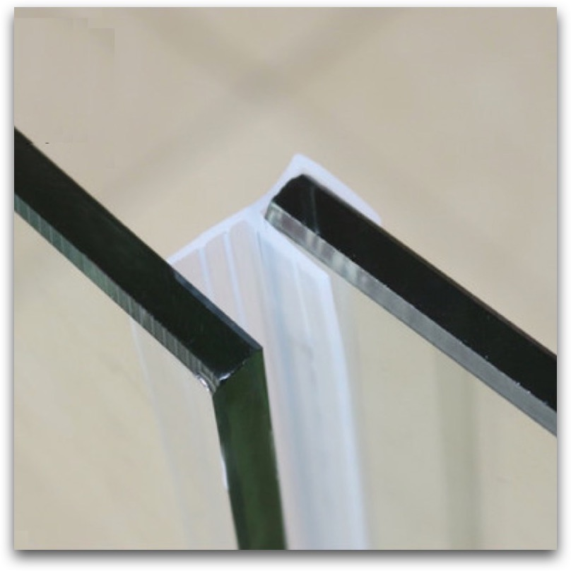 Frameless shower door rubber strip