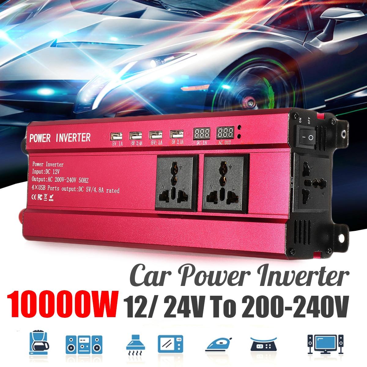 Car Solar Power Inverter P eak 10000W DC 12V to AC 200-240V Sine Wave USB Converter Voltage Transformer USB Modified Sine Wave цены