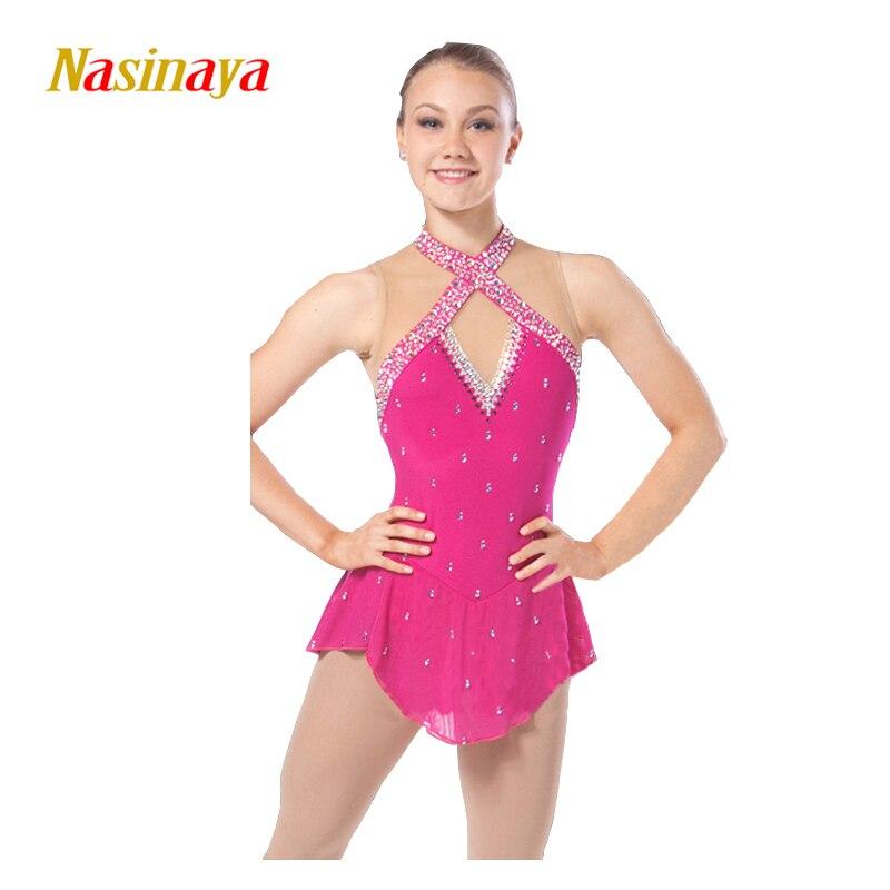 Nasinaya Patinage artistique Robe Personnalisé Concurrence Glace De Patinage Jupe pour Fille Femmes Enfants Patinaje Gymnastique Performance 149