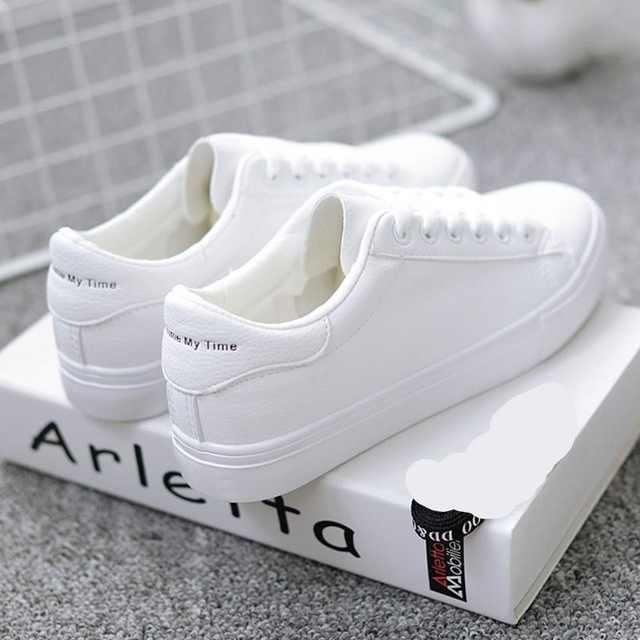 Aike Azië HOT Vrouwen Casual Schoenen Zomer 2019 Lente Mode Ademend Lace Up Koreaanse Vulcaniseer Sneakers Tenis Feminino Canvas